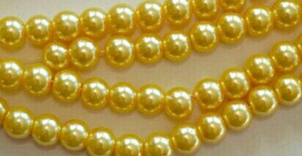 Last 4 yellow pearl glass beads