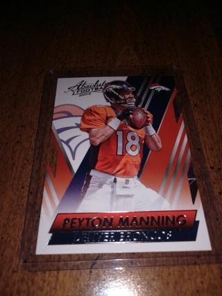 2 Card lot football Peyton Manning veteran quarterback of the NFL