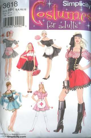 Free Simplicity Costume Sewing Pattern 3618 Sexy Pirate French