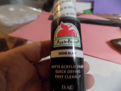 Full bottle Black Apple Barrel Craft Paint