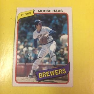 1980 Topps #181 P Moose Haas - Brewers