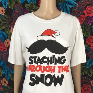 MEN'S Staching Through The Snow Shirt Funny Xmas