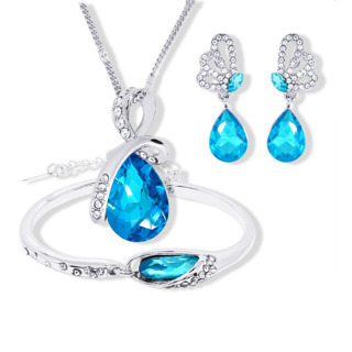 Water Drop Pendant Necklace Stud Earring