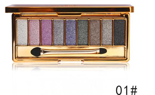 Eye Shadow Pallete Makeup 9 Colors Diamond Bright Glitter Shiny Eyeshadow Make Up