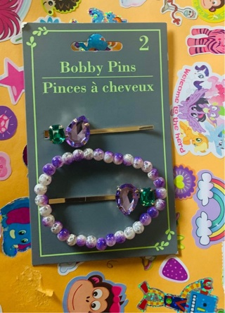 Pretty In Purple set of two barrettes and one bracelet!