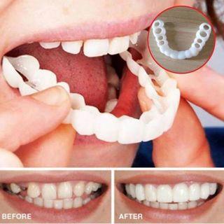 Beautiful Instant Dental Veneers Smile Comfort Fit Flex Cosmetic Teeth Denture