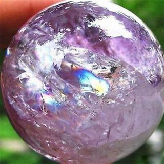 1Pc Amethyst Quartz Sphere Big Pretty Crystal Ball Healing Purple Stone
