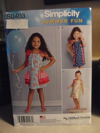 New Simplicity Pattern - S0403 - Size 3-8