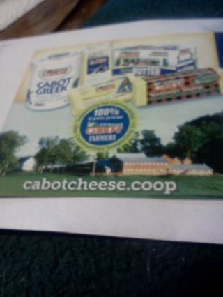 """FREE CABOT BUTTER, CHEESE OR GREEK YOGURT $3.00 VALUE PLUS EXTRA MYSTERY GIFTS!!!"""""""