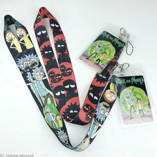 Rick and Morty Neck Strap Lanyard ID Badge Charms KeyChain Anime Gift + Card New