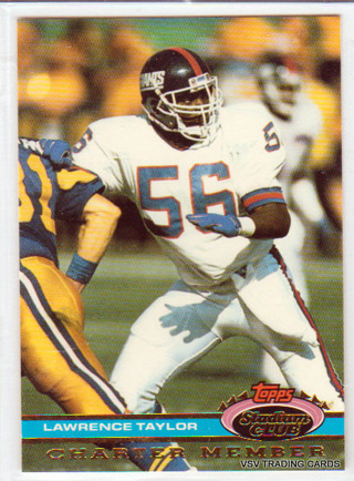 Lawrence Taylor, 1991 Topps Stadium Club Charter Member Card, New York Giants