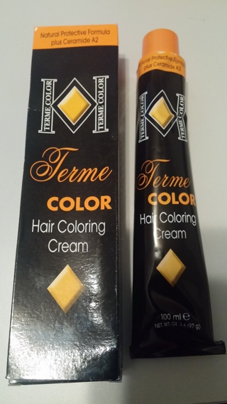Hair color cream TERME with multivitamins 3.4OZ/100ml YOU CHOOSE 1 COLOR MADE IN ITALY