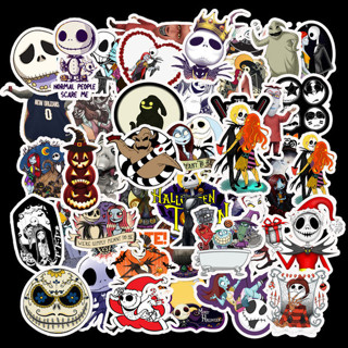 50Pcs Lots Halloween Set Skateboard Stickers Vinyl Laptop Dope Luggage Decals