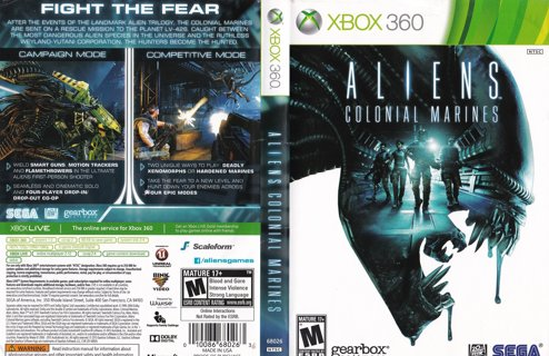 Aliens Colonial Marines XBOX 360 Free USA Shipping