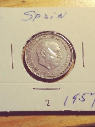 1957 Spain 25 Peseta! 292