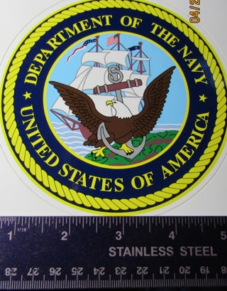Military Seal car sticker -  Department of the Navy