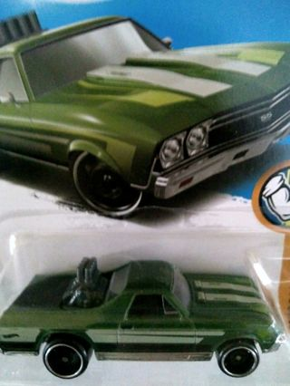 2015 Green Hot Wheel '69 Camaro New