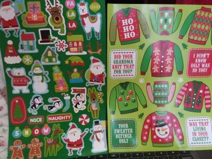 Christmas huge sticker sheets lowest gins No refunds! No lower! Selling out!! Really nice!