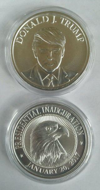 Donald Trump 1 oz .999 silver coin Make America Great Again inauguration medal
