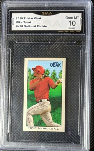 MIKE TROUT ROOKIE CARD * GRADED GEM MINT 10