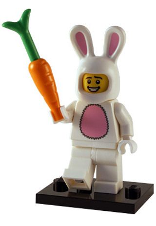 Free: Lego minifigure Easter Bunny with carrot - Collectible Toys