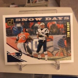 2018 Donruss Tom Brady Snow Days Insert Card
