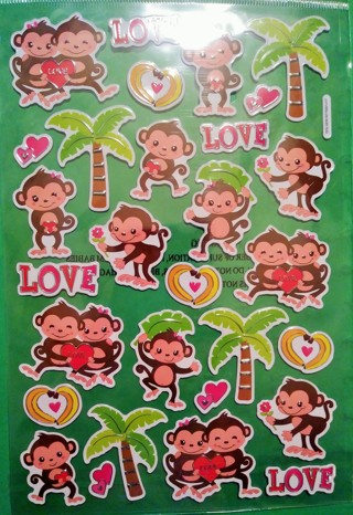 New-one sheet of MONKEY stickers
