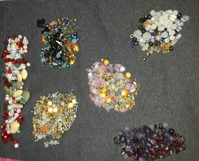 1+ Lb BEADS STONE JEWELRY PIECES *NOT Cheap JUNK* MUST SEE> Big Lot