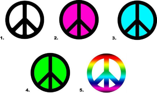Waterslide Nail Decals Set of 20 - Peace Sign