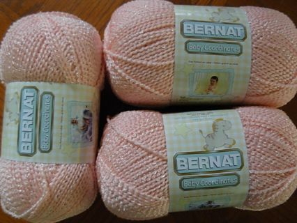 ec9f51bc440b Free  THREE New 5 oz. skeins Bernat Baby Coordinates yarn