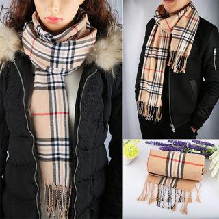 New 70Inch Length Warm Scarf Plaid Cashmere Feel Scarf Classic Soft