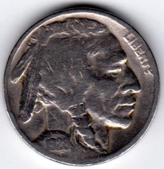 Vintage 1928 Buffalo Indian Head Nickel U.S. 5 Cent Coin