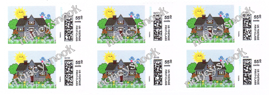 "6 count of Official USPS 55 cent postage stamps ""HOUSE"""