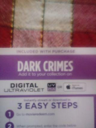 Dark Crimes VUDU Code