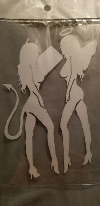 Devil and Angel Decal