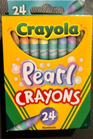 BNIB 24 CRAYOLA PEARL Crayons Box. Smooth, Colors! Non Toxic. Projects Crafts School