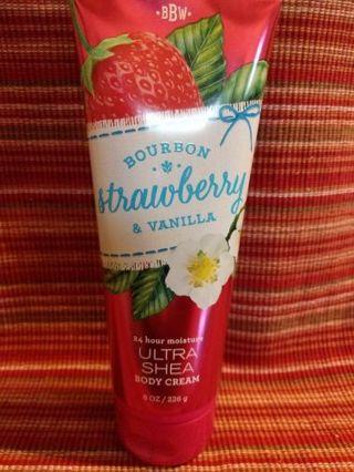 B&BW bourbon strawberry vanilla body cream