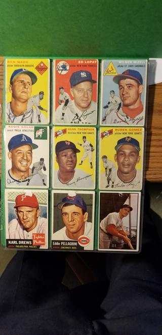 9 - 1953/54TOPPS baseball cards read