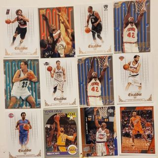 Collection of 12 Basketball Cards Rookie Pistons Lakers Suns Knicks Pistons Hornets Nets #43