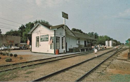 Vintage Unused Postcard: Old Railroad Depot, Plains, GA