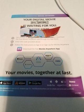 Hotel Transylvania 3 digital movie code