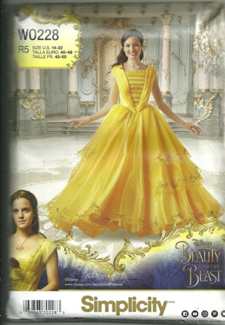 Disney Princess- Beauty and Beast Costume Pattern