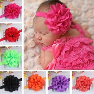 1 X Toddler Girls Kids Lace Flower Headband Headwear Hair Band Baby Accessories