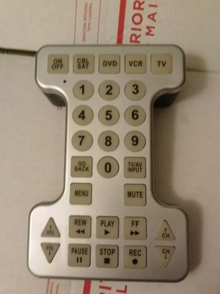 1 over sized novelty TV remote control for television READ FIRST gin