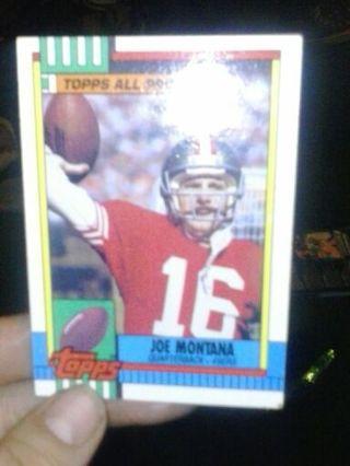 Joe Montana baseball card