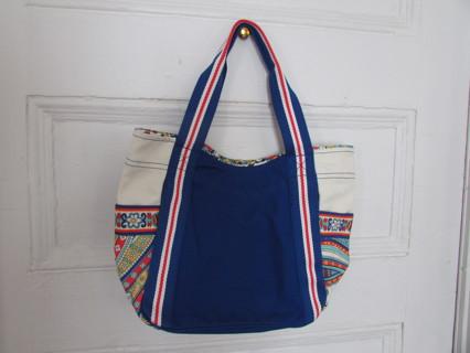 NWT VERA BRADLEY CANVAS BAG W/ RED-WHITE & BLUE TRIMS