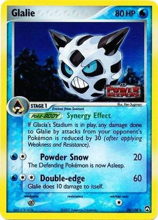 Glalie - 30/108 - Uncommon Reverse Holo Ex Power Keepers Reverse Holo Singles
