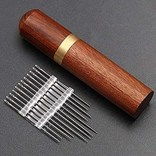 [GIN FOR FREE SHIPPING] Stainless Steel Self-threading Needles Opening Sewing Darning Set