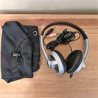 Logitech Premium PC Silver/Black Headband Noise-Canceling Headset