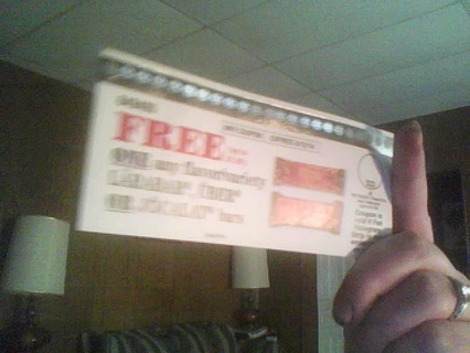 coupon 4 free larabar, uber or jocalat bar